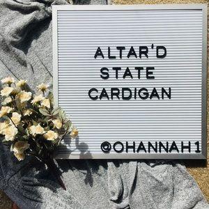 Altar'd state long cardigan